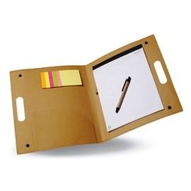 Porte-documents avec bloc note et Post-It